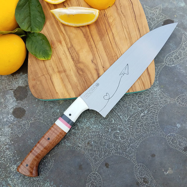 NORA #1639 -7.5 Inch Santoku - O1 Carbon Steel - Love Letter