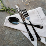 'Lapland Forest' Flatware - Stainless Steel Black PVD Flatware