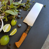 NORA #1676 - 6.5 Inch Nakiri - AEB-L Stainless Steel - Finis Coronat Opus (the end crowns the work)