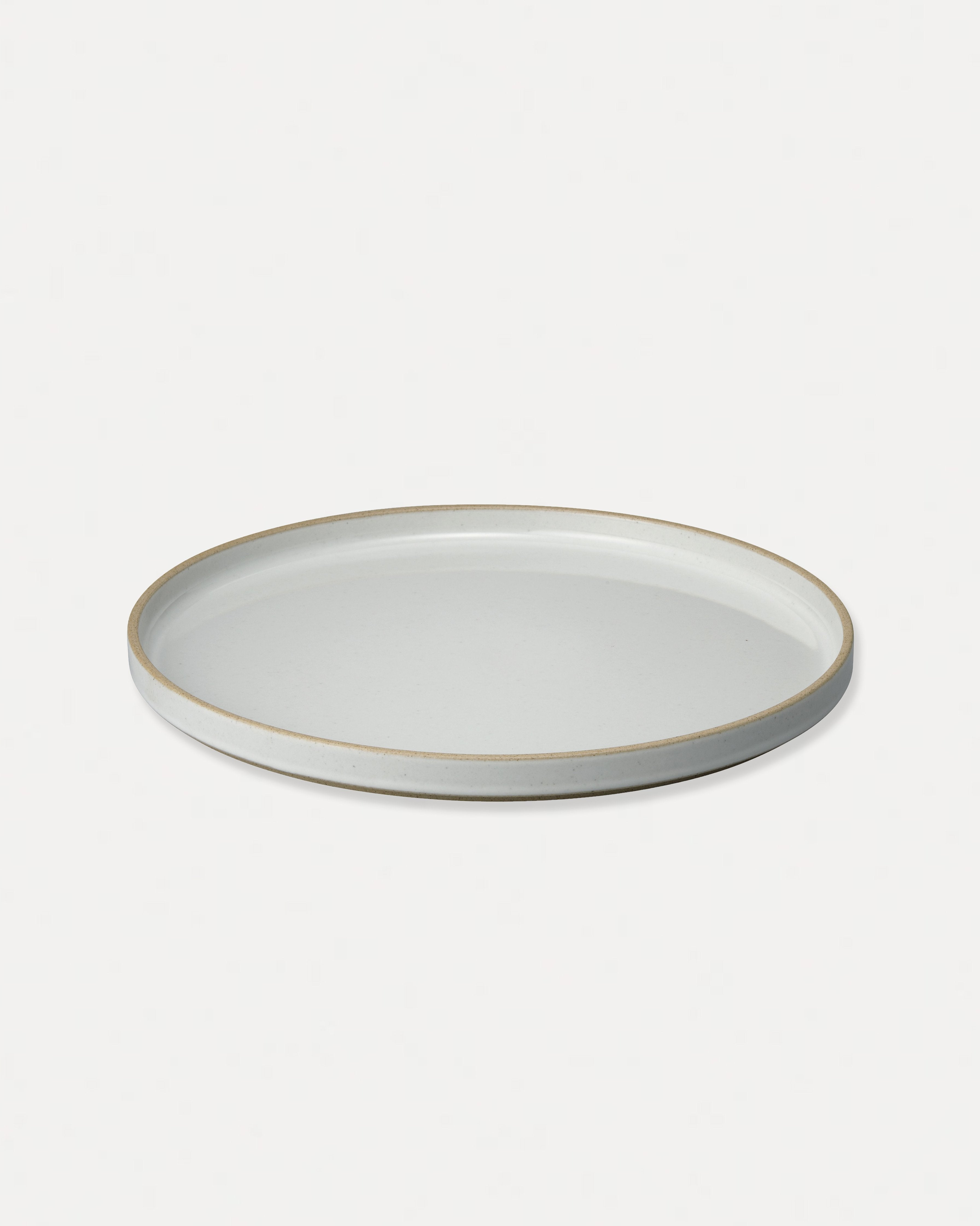 Hasami Porcelain Large Plate Gloss Gray