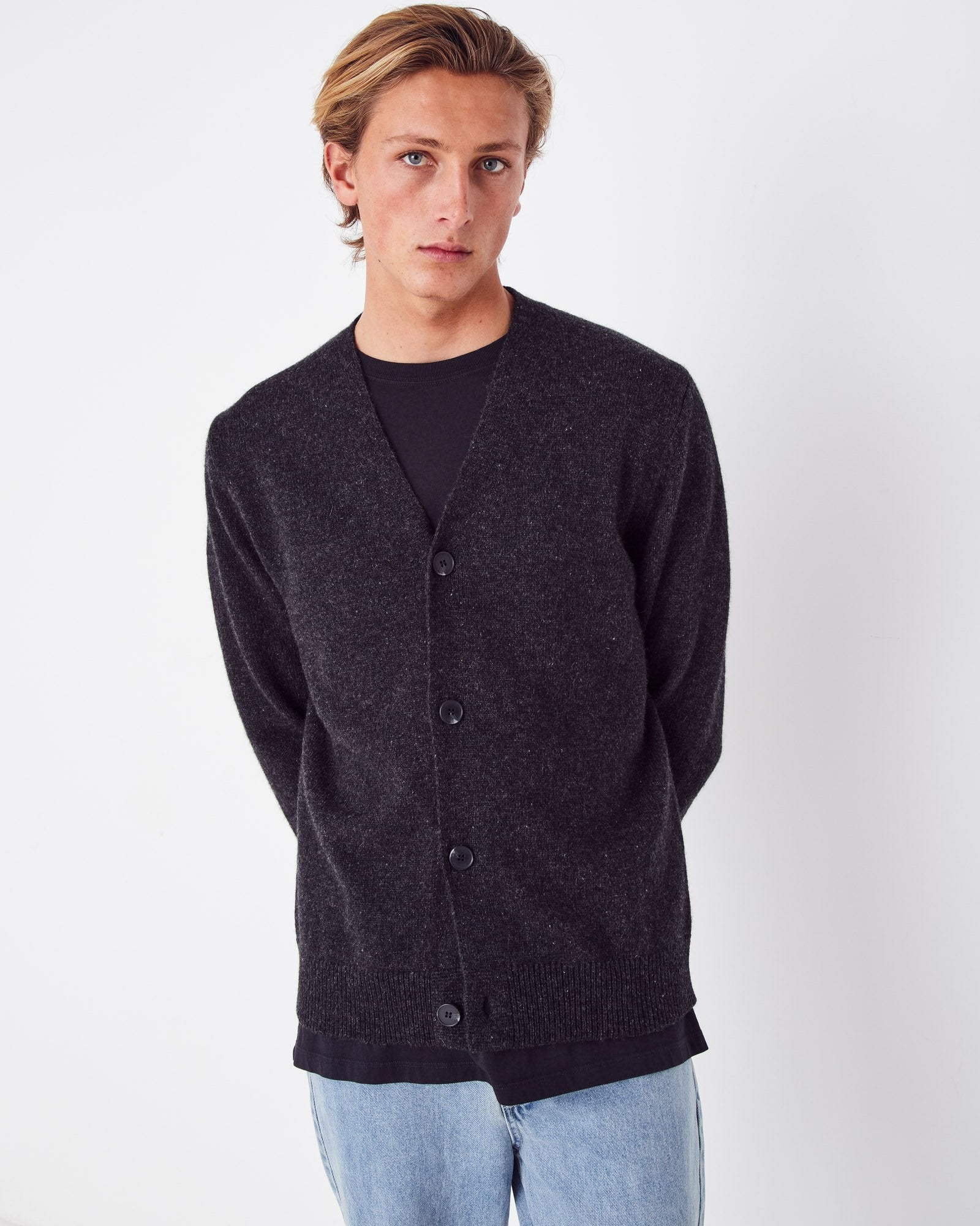 Crosby Wool Cardigan Charcoal