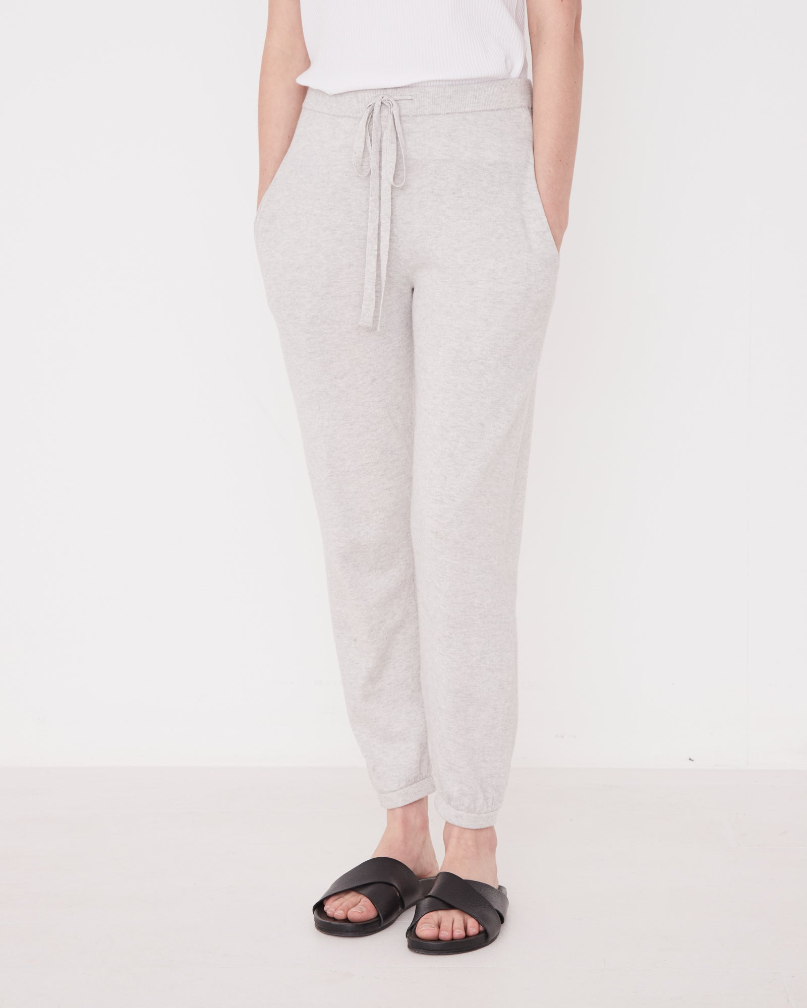 Cotton Cashmere Pant Grey Marle