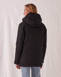 Padded Frontier Canvas Parka Black