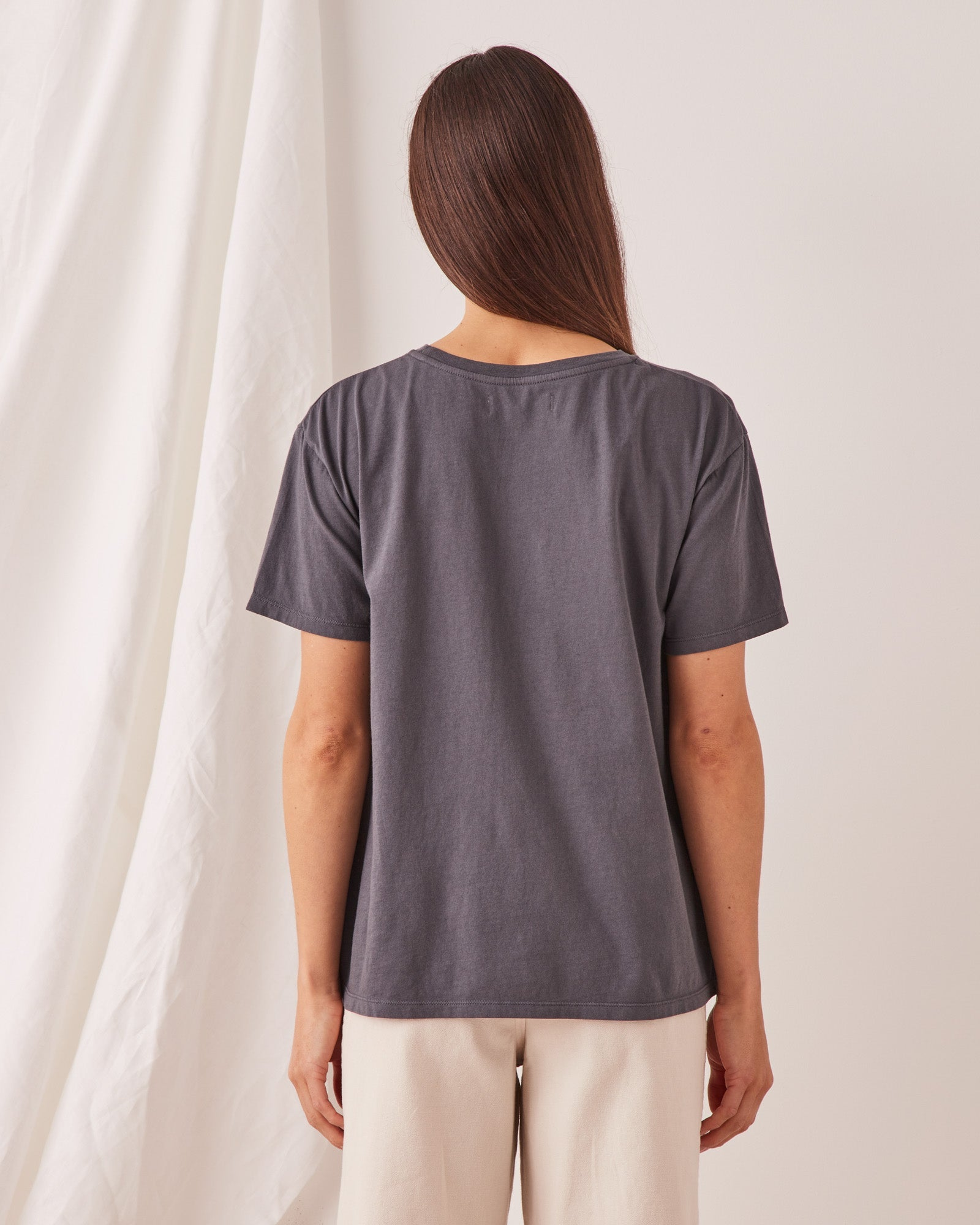 The Crew Tee Charcoal