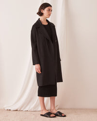 Wool Trench Coat Black