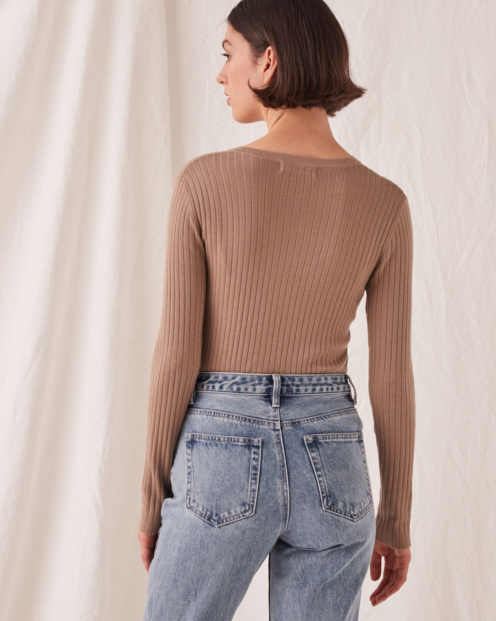 Ella Long Sleeve Knit Husk