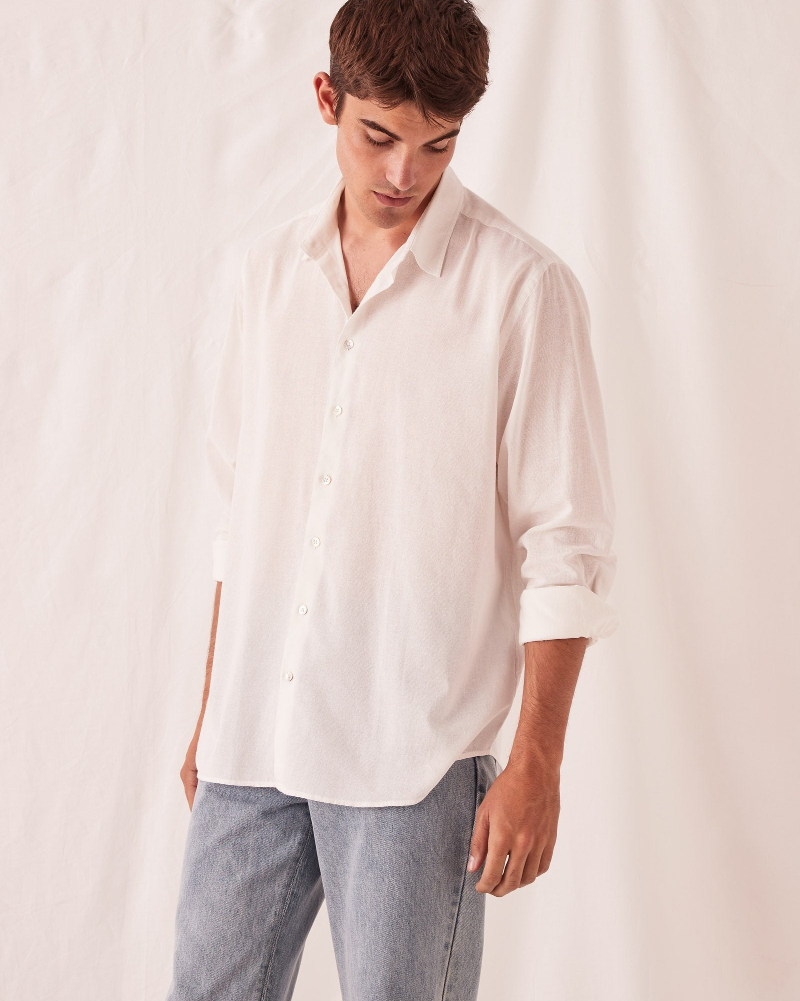 Oversized Painters Shirt Antique White