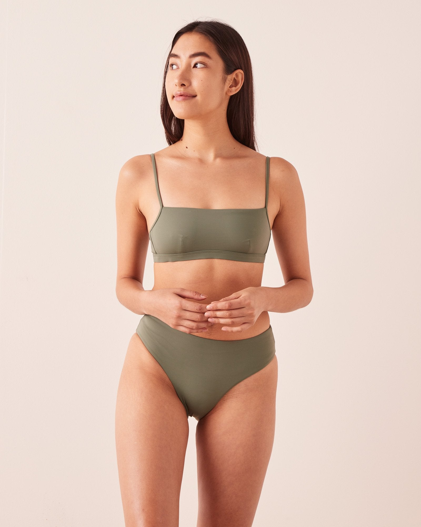 High Waist Brief Soft Green