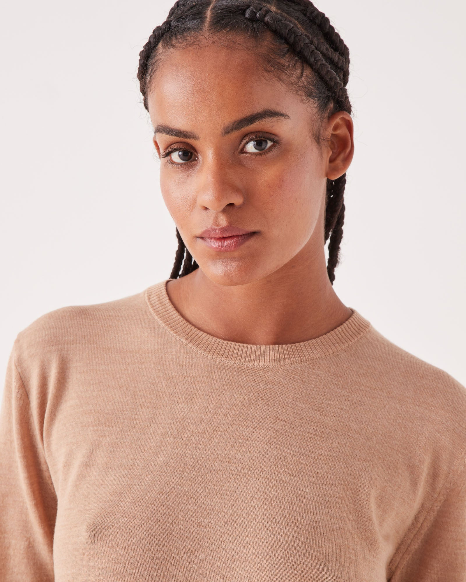 Lightweight Wool Knit Tee Taupe