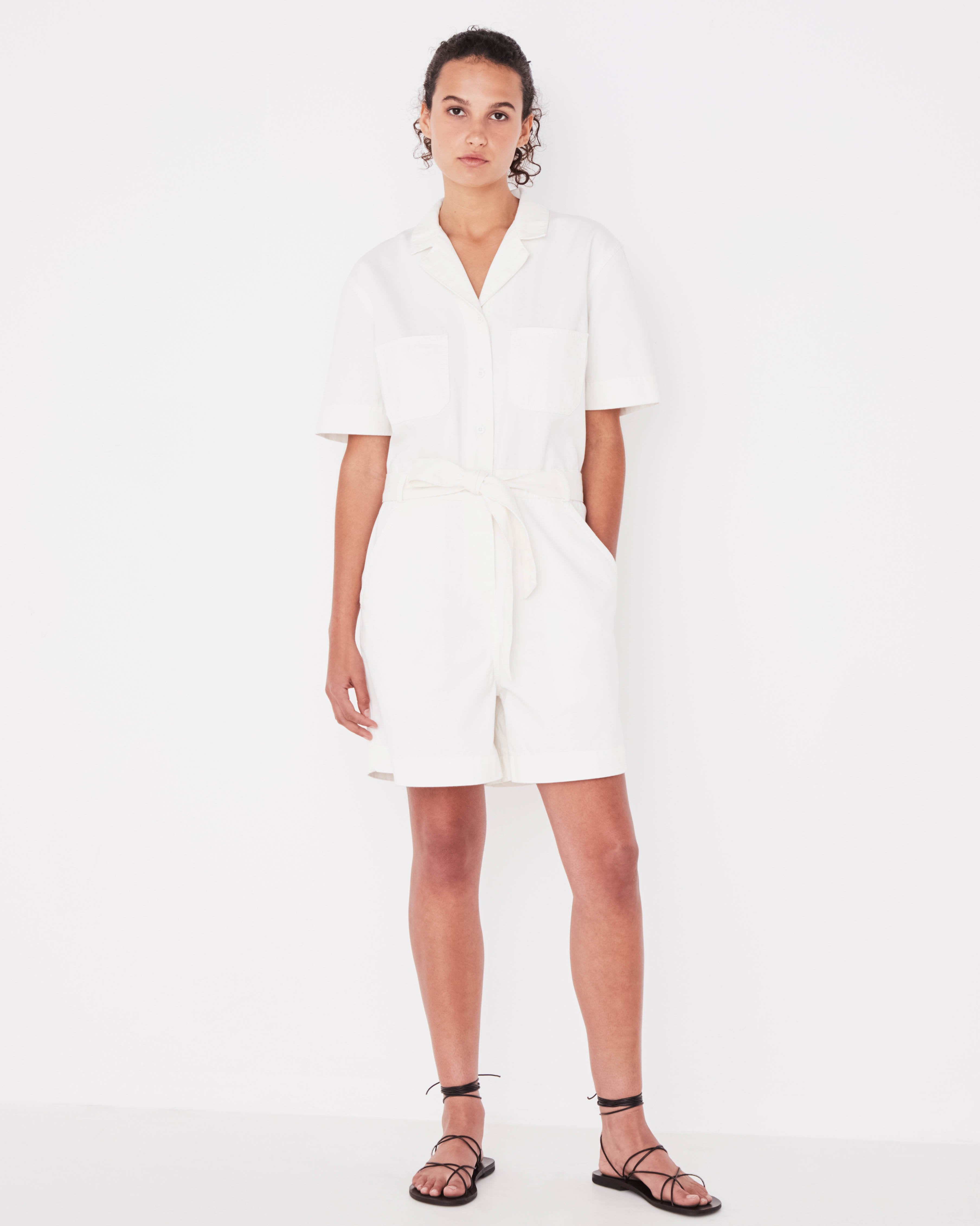 Levy Playsuit Vintage White
