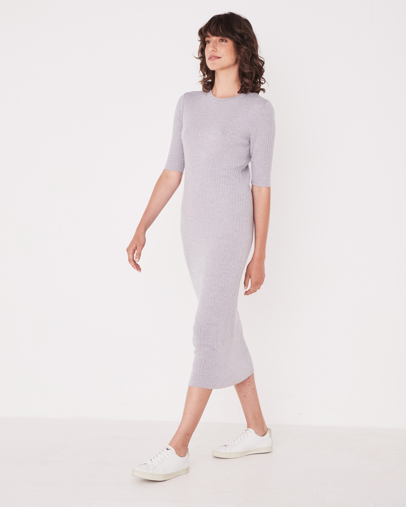 Ella Midi Dress Grey Marle