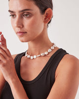Holly Ryan Misshapen Pearl Choker Silver