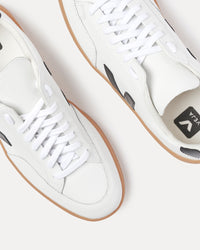 Veja Leather Extra White and Black Natural Sole