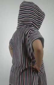 Stripe Velour Towel Poncho - Design2Change