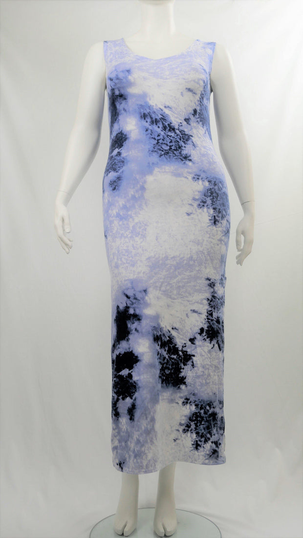 Maxi Dress Long Blue Tie Dye - Design2Change