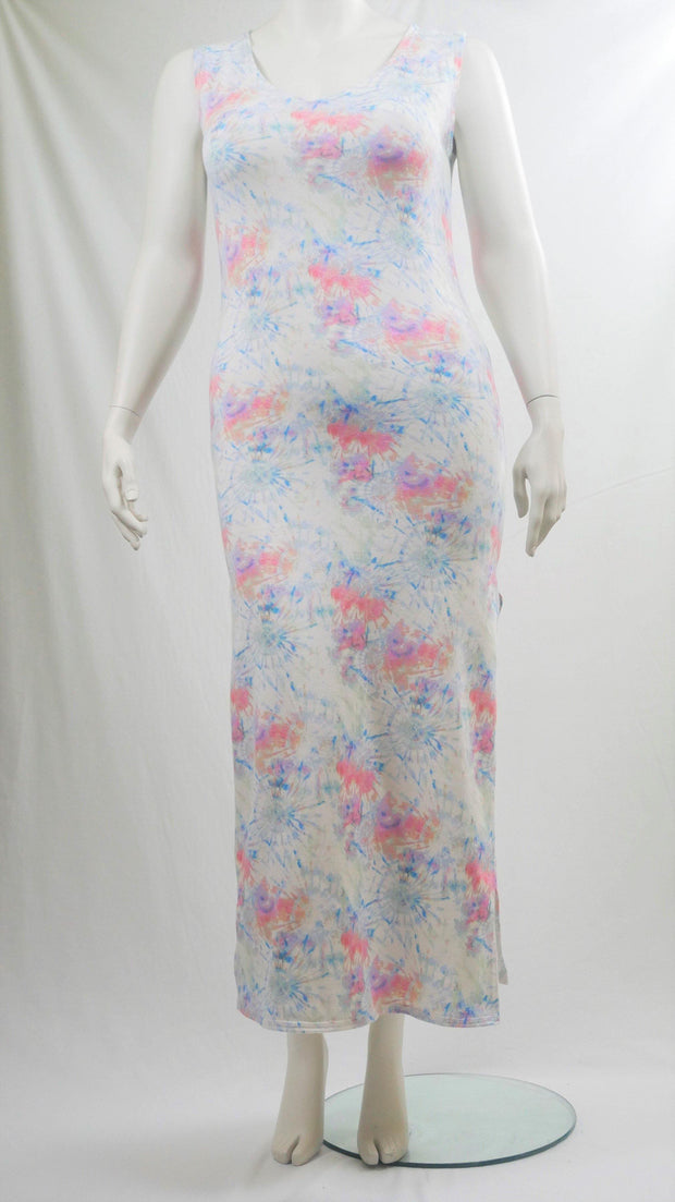 Maxi Long Dress Floral Tie Dye - Design2Change