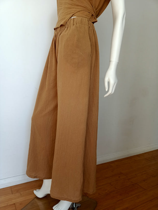 Crinkled Twizel Adaptive Wide Leg Pants - Design2Change