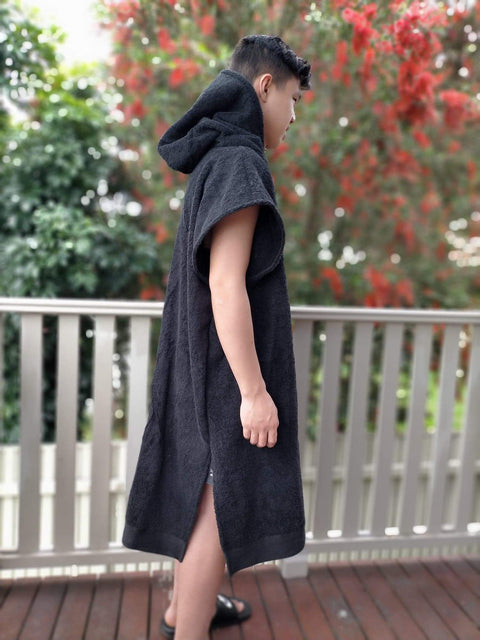 Blank Towel Black Poncho Unisex - Design2Change