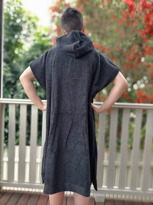 Black Towel Poncho - Unisex - Design2Change