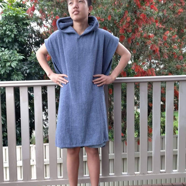 Blue Towel Poncho - Unisex - Design2Change