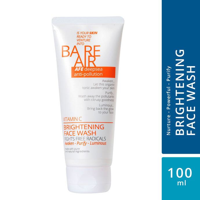 BareAir Brightening Face wash with Vitamin C