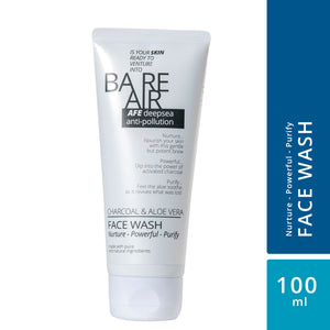 BareAir Facewash with Charcoal & Aloe Vera