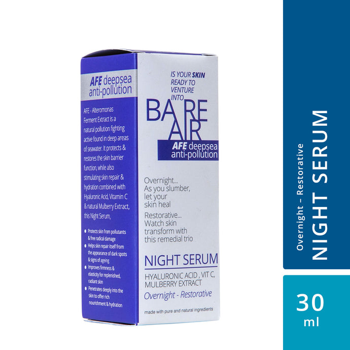 BareAir Night Serum with Hyaluronic Acid, Vitamin C and Mulberry Extracts