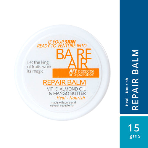 BareAir Repair Balm with Vitamin E, Almond Oil & Mango Butter