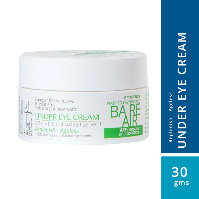 Under Eye Cream 30gm (with Vitamin C + E, Cucumber & Caffeine Extracts)