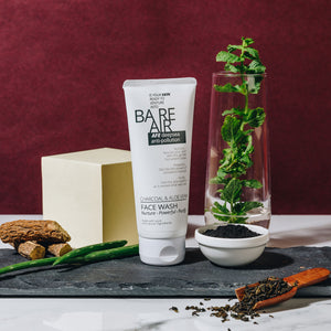 BareAir Facewash with Charcoal & Aloe Vera-1