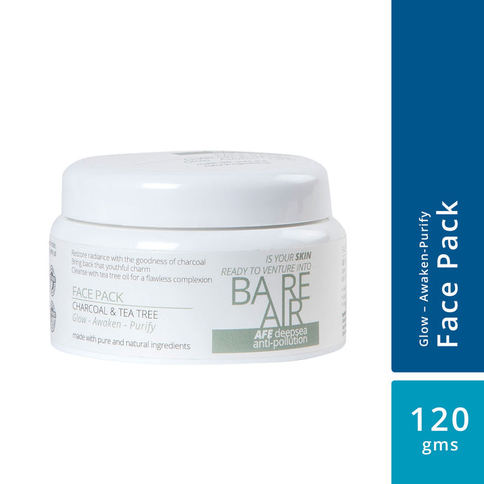 BareAir Face Pack (Charcoal & Tea Tree Clay)