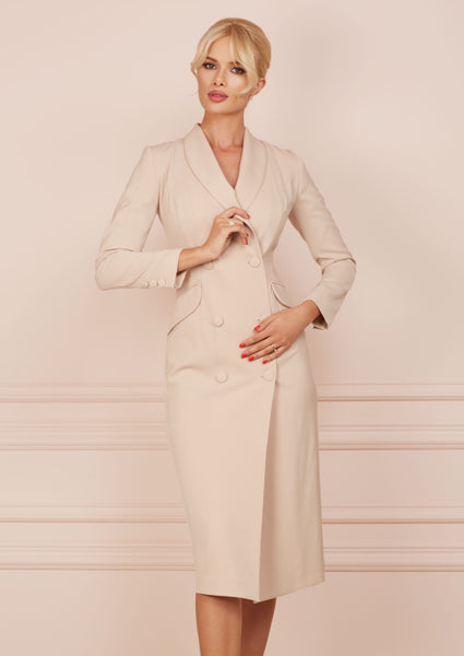 BUSINESS LADY Beige Blazer Dress