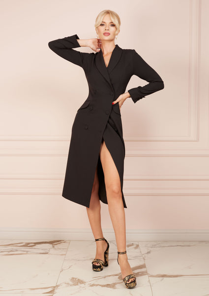 BUSINESS LADY Black Blazer Dress