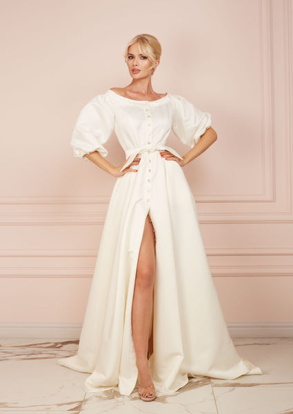 DUCHESS White Long Dress