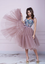 Load image into Gallery viewer, THE ONE Pink Cappuccino Midi Tulle Dress