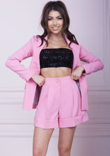 Load image into Gallery viewer, Pink High Waist Wide Leg Shorts