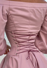 Load image into Gallery viewer, MALLINY Waist-Shaping Royal PINK Corset