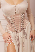 Load image into Gallery viewer, MALLINY Waist-Shaping Royal Beige Corset