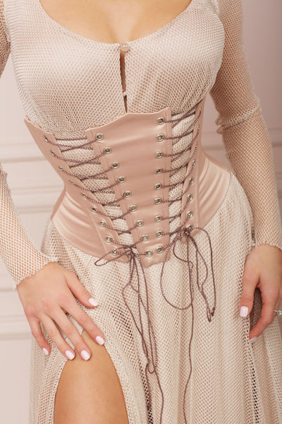 MALLINY Waist-Shaping Royal Beige Corset