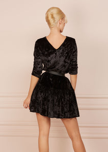 Bonfire TOFFEE Velvet Black Dress