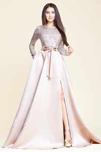 Cream Sequin Duchesse Dress