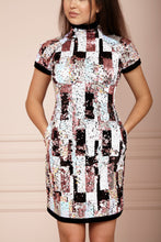Load image into Gallery viewer, TOKYO Sequin & Black Velvet Dress