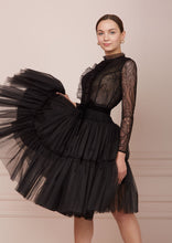 Load image into Gallery viewer, PARIS Black Tulle Midi Dress