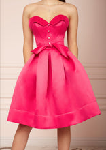 Load image into Gallery viewer, LADY MALLINY Fuchsia Bustier Midi Dress