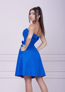LADY MALLINY ROYAL BLUE Midi Dress