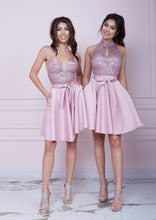 Load image into Gallery viewer, BONBON Pink Sequin Dress