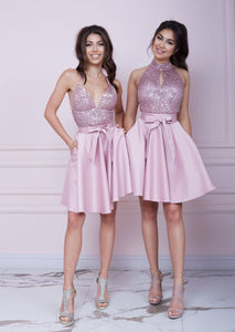 BONBON Pink Sequin Dress