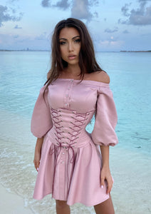 MALLINY Waist-Shaping Royal PINK Corset