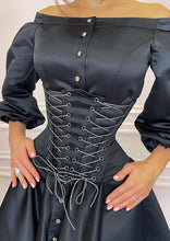 Load image into Gallery viewer, MALLINY Waist-Shaping Royal BLACK Corset