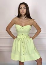 Load image into Gallery viewer, LADY MALLINY LEMON Bustier Midi Dress